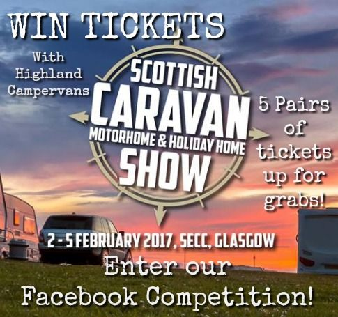 Competition Time! Win Tickets for the Scottish Caravan and Motorhome Show at SECC!